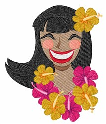 Hawaiian Girl embroidery design
