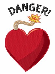 Danger embroidery design