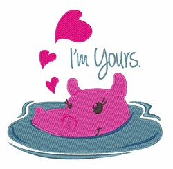 Im Yours embroidery design