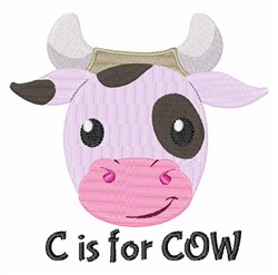 C For Cow embroidery design