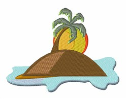 Island embroidery design