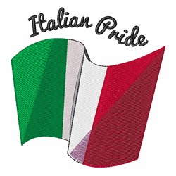 Italian Pride embroidery design