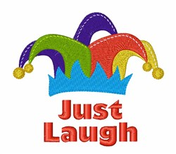 Just Laugh embroidery design