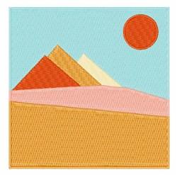 Pyramid Scene embroidery design