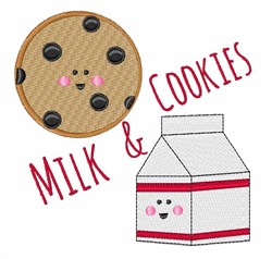 Milk & Cookies embroidery design