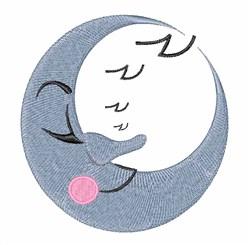 Sleepy Moon embroidery design