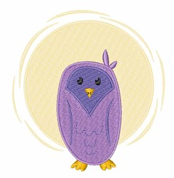 Purple Owl embroidery design