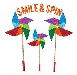 Smile & Spin embroidery design