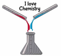 Love Chemistry embroidery design