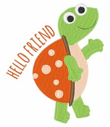 Hello Friend embroidery design