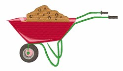 Wheel Barrow embroidery design