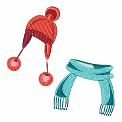 Hat & Scarf embroidery design