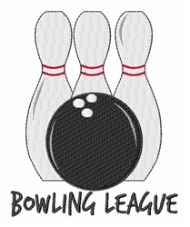 Bowling League embroidery design