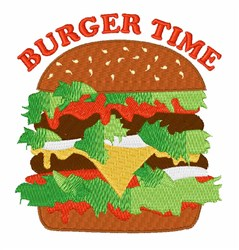 Burger Time embroidery design