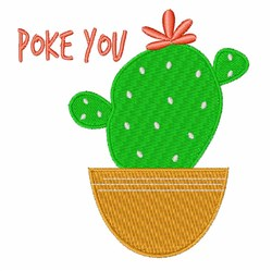 Poke You embroidery design