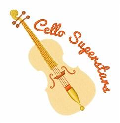 Cello Superstars embroidery design