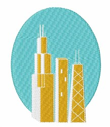 Skyline embroidery design