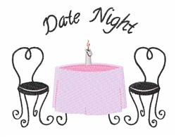 Date Night embroidery design