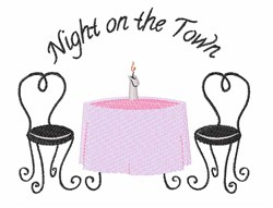 Night On Town embroidery design