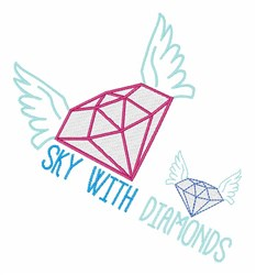 Sky With Diamonds embroidery design