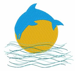 Dolphin Jump embroidery design