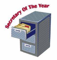 Secretary Of Year embroidery design