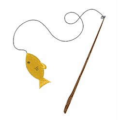 Fishing Pole embroidery design