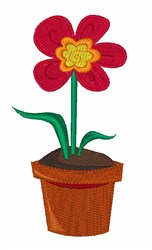 Flower Pot embroidery design