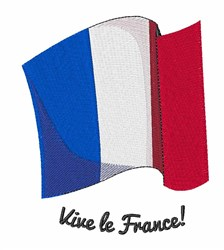 Vive le France embroidery design