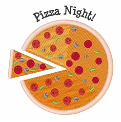Pizza Night embroidery design