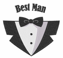 Best Man embroidery design