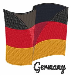 Flag of Germany embroidery design