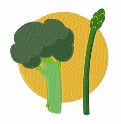 Broccoli Asparagus embroidery design