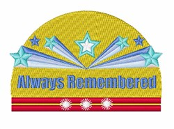 Always Remembered embroidery design