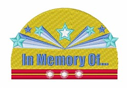 In Memory Of embroidery design