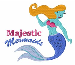 Majestic Mermaids embroidery design