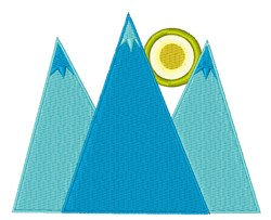 Mountains embroidery design