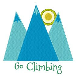Go Climbing embroidery design