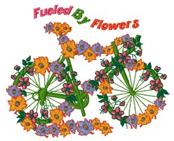 Fueled By Flowers embroidery design