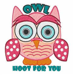 Hoot For You embroidery design