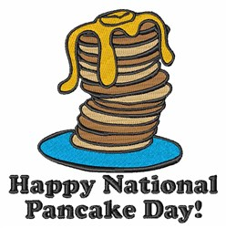 Pancake Day embroidery design