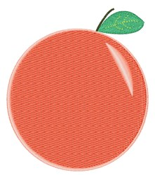 Peach embroidery design