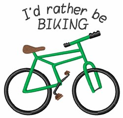 Rather Be Biking embroidery design