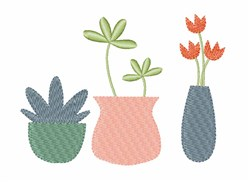 Potted Plants embroidery design