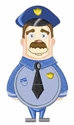 Policeman embroidery design