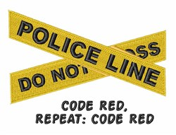 Code Red embroidery design