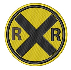 RR Crossing embroidery design