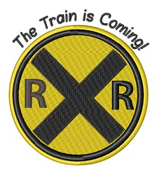 Train Is Coming embroidery design