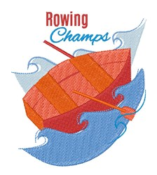 Rowing Champs embroidery design