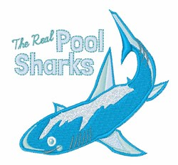 Pool Sharks embroidery design